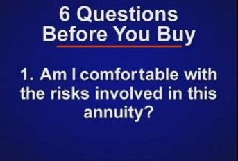 Buying an Annuity: Six Questions to Ask