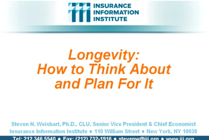 LONGEVITY NARRATED PRESENTATION