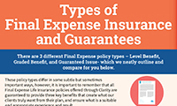 Types of Final Expense Insurance